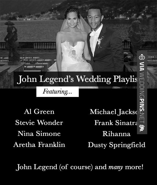 Wedding Reception Songs 2015 John Legends Actual Wedding Playlist