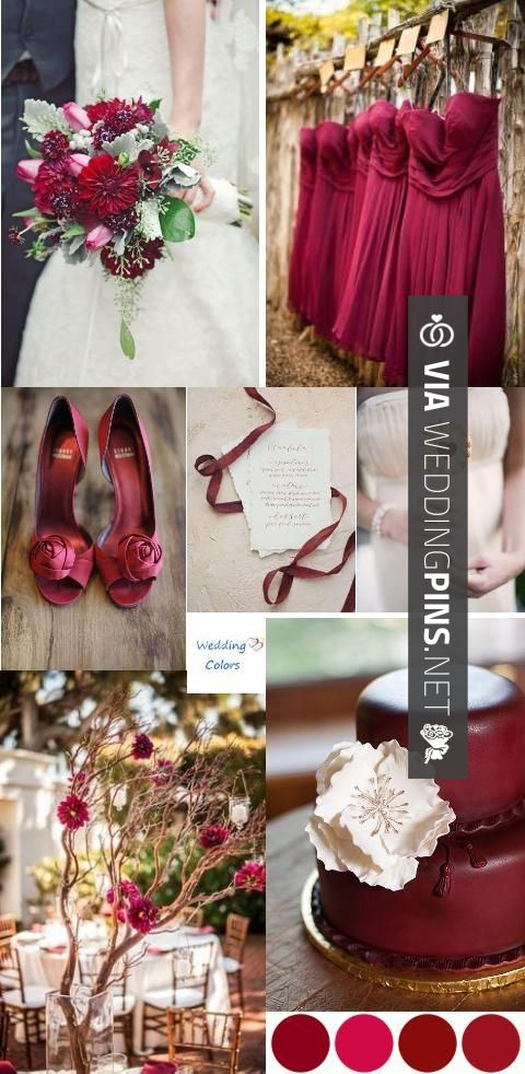 Wedding Colour Schemes 2015 Cranberry Wine Ivory Wedding Color Inspiration Love The Color