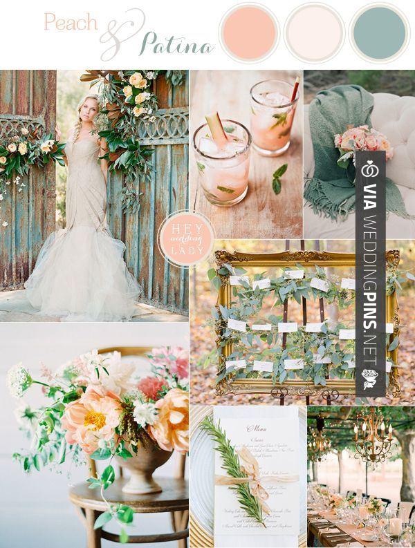 Wedding Colour Schemes 2016 Peach And Patina Romantic