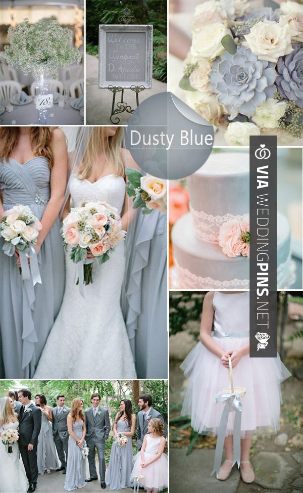 Wedding colour schemes 2017 top 10 wedding colors ideas for wedding colour schemes 2017 top 10 wedding colors ideas for spring 2014 we love this stunning sophisticated dusty blue scheme junglespirit Choice Image