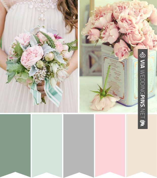 Wedding Colour Schemes 2017 Powder Pink And Duck Egg