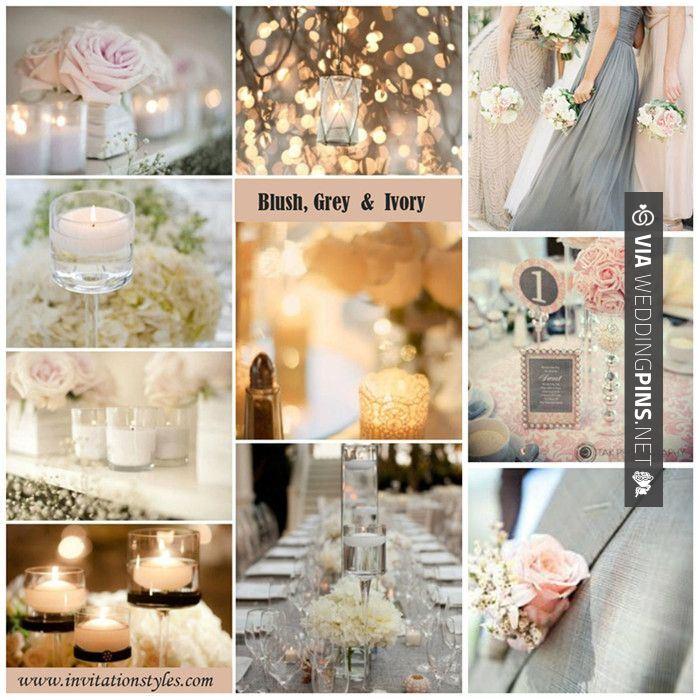Blush,grey And Ivory Wedding